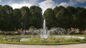 Jardin DE L ` Eveche, fontein in Lisieux stock footage