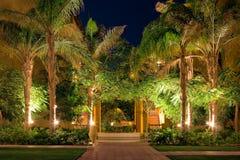 Jardin de l'hôtel Photos libres de droits
