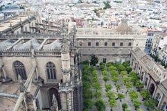 Jardin de la cathédrale de Santa Maria Images libres de droits