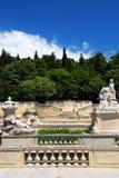 Jardin de la Fontaine a Nimes Francia Fotografia Stock Libera da Diritti