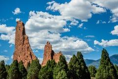 Jardin de la formation de roche de dieux - le Colorado Image stock