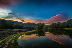 Jardin de lac Taiping photo stock