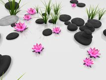 Jardin de lotus illustration libre de droits