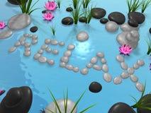 Jardin de lotus - détendez illustration de vecteur