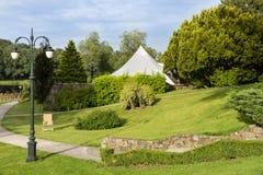 Jardin de luxe en Pologne. Photographie stock libre de droits
