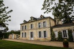 Jardin de manoir de Cheval Blanc de château, emilion de saint, rive droite, Bordeaux, France Image libre de droits
