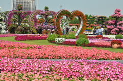 Jardin de miracle de Dubaï aux EAU Photographie stock
