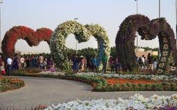 Jardin de miracle - Dubaï Photographie stock libre de droits