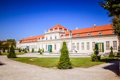 Jardin de palais de belvédère à Vienne, Autriche photo stock
