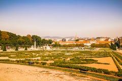 Jardin de palais de belvédère à Vienne, Autriche photographie stock libre de droits