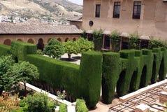 Jardin de palais d'Alhambra, Grenade, Andalousie, Espagne Images libres de droits