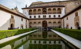 Jardin de palais de Nasrid Image libre de droits