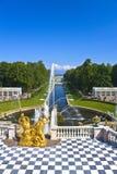 Jardin de palais de Peterhof Image stock