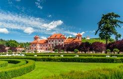 Jardin de palais de Troja, Prague Images libres de droits
