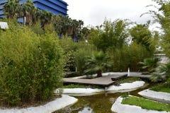 Jardin de Parque DAS Nações - Lisbonne, Portugal Photographie stock
