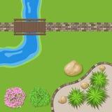 Jardin de paysage de vue supérieure Photo libre de droits