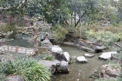 Jardin de piscine dans le temple de wuhouci, adobe RVB photographie stock libre de droits