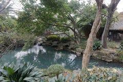 Jardin de piscine de temple de wuhou, adobe RVB images libres de droits