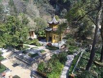Jardin de ressort de Huangshan Photos stock