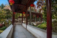 Jardin de retraite de ville antique de Wujiang Tongli Images libres de droits