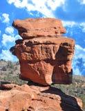 Jardin de roche équilibré de la chaux occidentale Boulder le Colorado de dieux Images libres de droits