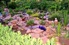 Jardin de roche Photographie stock