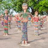 Jardin de roche, Chandigarh Image stock