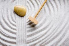 Jardin de roche de râteau Image stock
