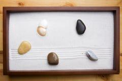 Jardin de roche de zen Photographie stock