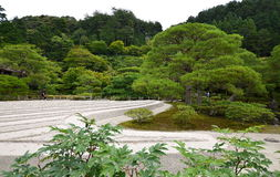 Jardin de sable du temple argenté Photos libres de droits