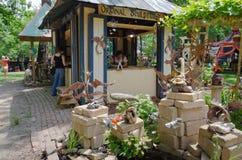 Jardin de sculpture en imagination Image stock