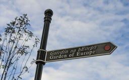 Jardin de signe de l'Europe, Irlande Image stock