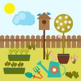 Jardin de source illustration de vecteur