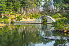 Jardin de style japonais de Shukkeien à Hiroshima, Japon Photos stock