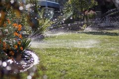 Jardin 01 de système d'irrigation image stock