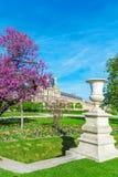 Jardin de Tuileries au ressort, Paris, France Images libres de droits