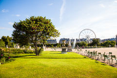 Jardin De Tuileries. A typical scene at the Jardin De tuileries which is situated next to the Louvre in Paris, France Stock Image