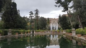 Jardin de villa D& x27 ; Este Photo libre de droits