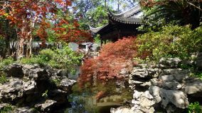 Jardin de Yu, à vieux Changhaï photos stock