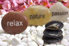 Jardin de zen avec des pierres de passion Image stock