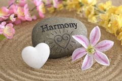 Jardin de zen en harmonie Images stock
