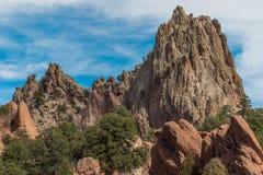 Jardin des dieux Colorado Springs Images libres de droits