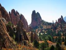 Jardin des dieux, Colorado Springs, Etats-Unis Images libres de droits