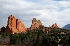 Jardin des dieux, Colorado Springs, le Colorado photographie stock libre de droits