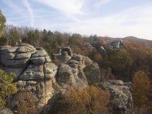 Jardin des dieux l'Illinois du sud Photos libres de droits