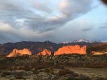 Jardin des dieux, le Colorado images stock