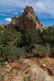 Jardin des montagnes rocheuses de Colorado Springs de dieux photographie stock libre de droits