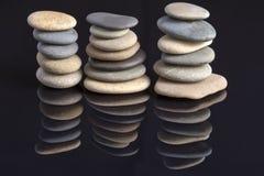 Jardin des pierres : Pierres de mer Photo stock