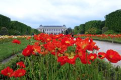 Jardin des Plantes Paris botanisk tr?dg?rd royaltyfria foton