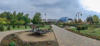 Jardin des sculptures forgées dans la ville de Yuzhny, Ukraine photographie stock libre de droits
